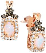 LeVian Le Vian Chocolatier® Opal (5/8 ct. t.w.) and Diamond (3/8 ct. t.w.) Drop Earrings in 14k Rose Gold