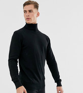 French Connection Tall 100% cotton roll neck sweater