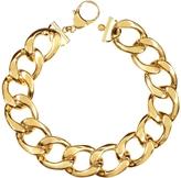 Pluma The Gwyneth Golden Brass Link Necklace