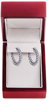 Lord & Taylor Diamond and 14K White Gold Hoop Earrings, 1 TCW
