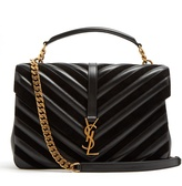 Saint Laurent Collège large quilted-leather shoulder bag