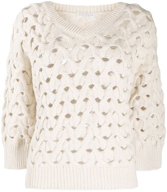 Brunello Cucinelli Open Knit Jumper
