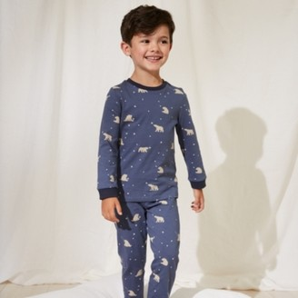 The White Company Glow-In-The-Dark Bear Pyjamas (1-12yrs), Blue, 2-3yrs