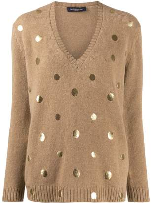 Piazza Sempione metallic dot jumper
