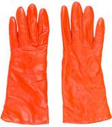 Henri Bendel Leather Short Gloves
