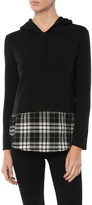 Generation Love Chester Plaid Double Layered Hoodie