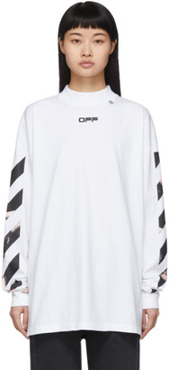 Off-White White Caravaggio Arrows Over Long Sleeve T-Shirt