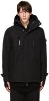 11 By Boris Bidjan Saberi Black Hooded Zip-Up Jacket