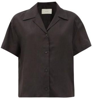 ASCENO Prague Short-sleeved Organic-linen Shirt - Black