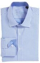 English Laundry Men's Trim Fit Check Dress Shirt