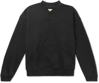Fear Of God Oversized Loopback Cotton-Jersey Henley Sweatshirt - Men - Black