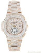 Patek Philippe Nautilus 5980 18K Rose Gold with Diamonds Automatic 40mm Mens Watch