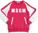 MSGM Cotton Sweatshirt W/ Duchesse Sleeves
