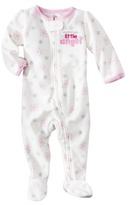 Carter's JUST ONE YOU Made by Newborn Girls' Fleece Sleep N' Play - White/Light Pink