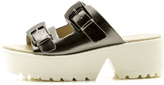 C Label Pewter Platform Shoe