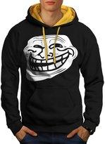 Trollface Troll Meme Men NEW S Contrast Hoodie | Wellcoda