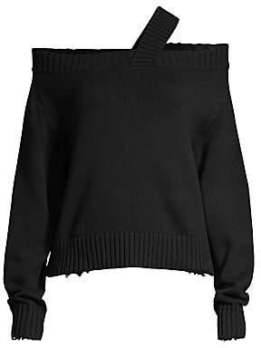 RtA Women's Beckett Asymmetric One-Shoulder Sweater