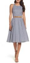 Eliza J Women's Belted Fit & Flare Dress