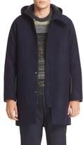 Acne Studios Men's Milton Raw Cut Wool Hooded Coat
