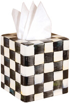 Mackenzie Childs Courtly Check Enamel Tissue Box Cover