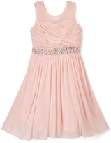 Speechless Blush Embellished Sleeveless Dress - Girls