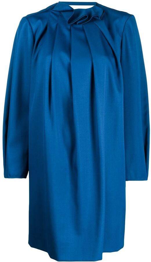 Nina Ricci Pleated Shift Dress
