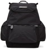 DSQUARED2 Black Nylon Backpack
