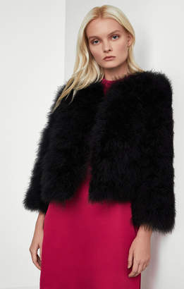 BCBGMAXAZRIA Faith Ostrich Feather Jacket