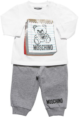 Moschino Printed Cotton Jersey T-shirt & Pants