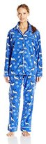 Bottoms Out Women's Printed Micro Fleece Sleep Set