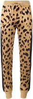 Bella Freud Leopard pattern track pants