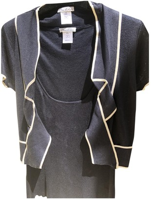 Oscar de la Renta Blue Silk Knitwear