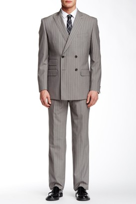 English Laundry Pinstripe Two Button Peak Lapel Wool Suit