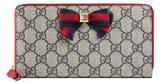 Gucci Grosgrain GG Supreme zip around wallet