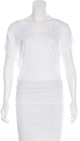 L'Agence Woven Scoop Neck Top