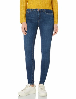 Pieces Women's Pcdelly Skn Mw Mb184-ba/noos Skinny Jeans