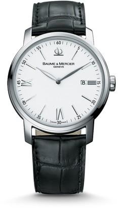 Baume & Mercier Classima 8485 Stainless Steel & Alligator Strap Watch