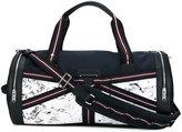 Christian Dior three-tone canvas duffle bag