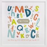 Minted Alphabet Soup for Her Nursery Custom Art Print