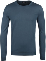 Boss Leno Teal Slim Fit Extra Fine Merino Sweater