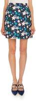 DELPOZO Classic Star-Print Skirt, Blue Star