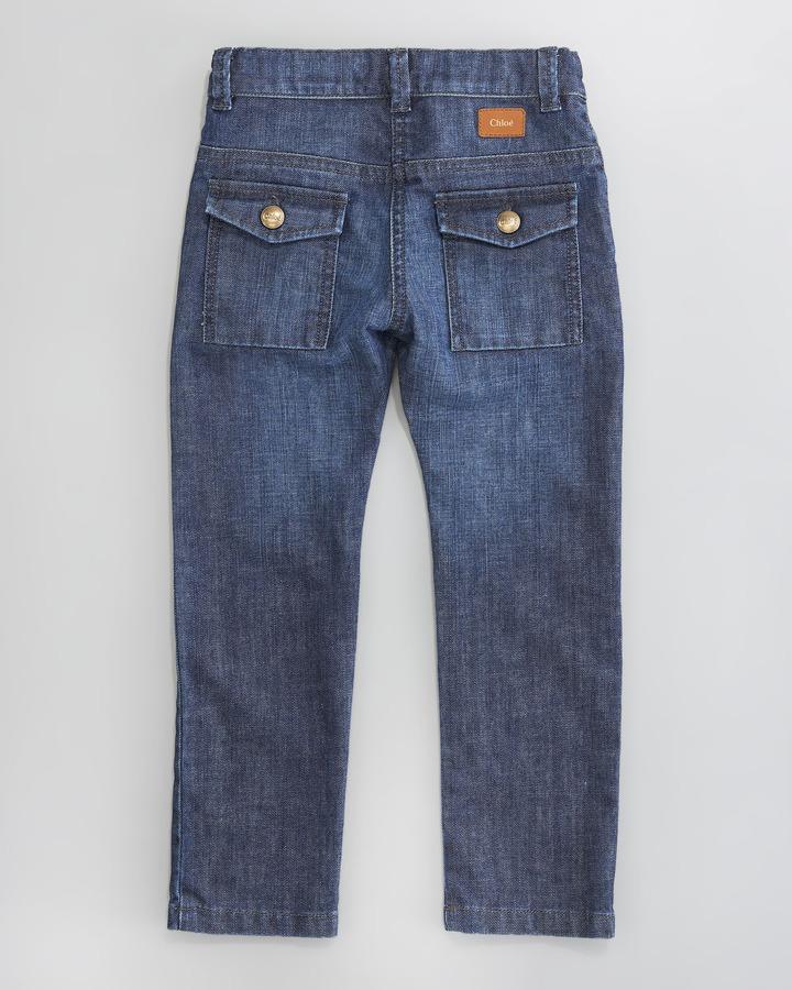 Chloé Stone-Wash Jeans, Sizes 2-5
