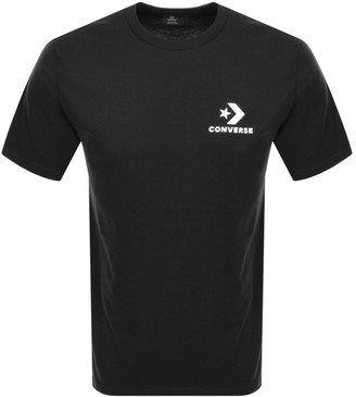 Converse Star Chevron Logo T Shirt Black