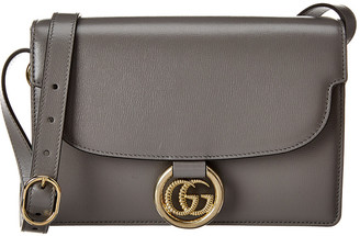 Gucci Torchon Double G Leather Shoulder Bag