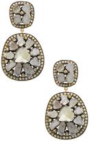 Amrapali 14K Yellow Gold & 5.55 Total Ct. Diamond Slice Drop Earrings
