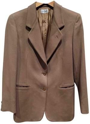 Burberry Camel Wool Jackets