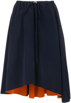 Cédric Charlier curved hem full skirt