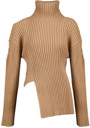Proenza Schouler Ribbed cotton and silk-blend sweater
