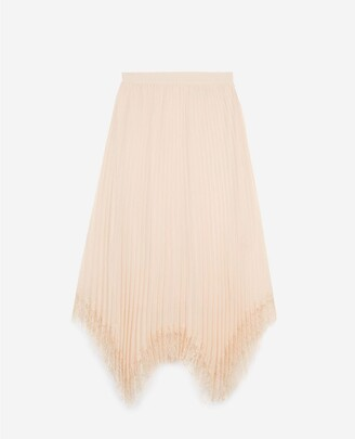 The Kooples Pink long pleated skirt with lace