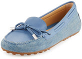 MICHAEL Michael Kors Daisy Denim Moccasin, Washed Denim
